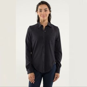 Lululemon Urbanite Button Down Blouse Shirt Size 6
